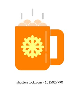 marshmallow icon - marshmallow isolated , hot cocoa illustration -Vector marshmallow