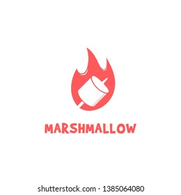 Marshmallow Logo Vector Design Template