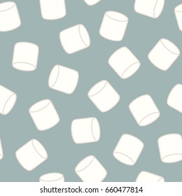 Marshmallow. Seamless vector pattern