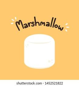 Marshmallow vector. wallpaper. free space for text. Marshmallow logo design.