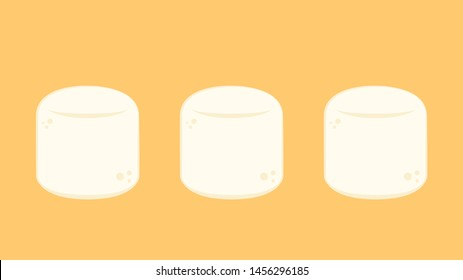 Marshmallow vector. wallpaper. free space for text. logo design.