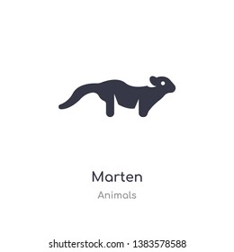 marten icon. isolated marten icon vector illustration from animals collection. editable sing symbol can be use for web site and mobile app