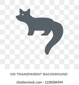 Marten icon. Trendy flat vector Marten icon on transparent background from animals  collection.