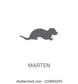 Marten icon. Trendy Marten logo concept on white background from animals collection. Suitable for use on web apps, mobile apps and print media.