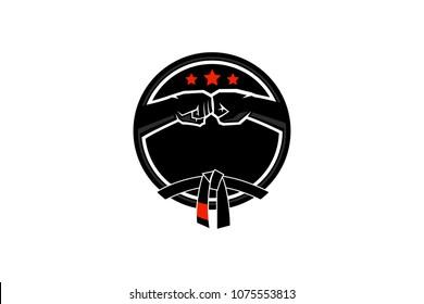 Martial Art Jiu Jitsu Logo Design