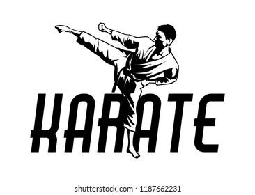 Martial art karate logo. Sport symbol illustration