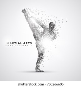Martial Art Kicking Particle Effect Art