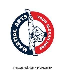 Martial art logo template vector illustration