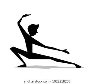 martial art man movement silhouette cartoon illustration