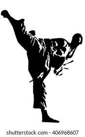 Martial Art Master (silhouette)