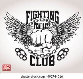 martial arts or fighting club logos, emblems, badges, labels, marks and design elements