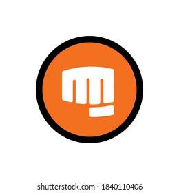 Martial arts icon, fist logo design, forward punch symbol - Vector