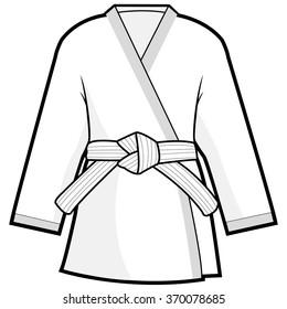 Martial arts jacket uniform. Vector illustration