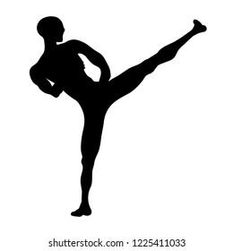 martial arts kick, karate kick
