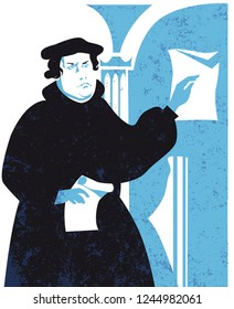 Martin Luther (1483-1546) vector illustration
