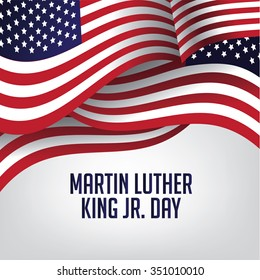 Martin Luther King Day American flag EPS 10 vector stock illustration