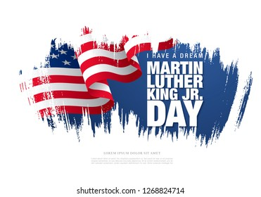 martin luther king day banner layout design, vector illustration