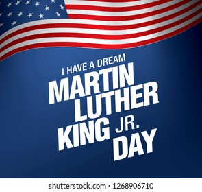martin luther king day banner layout design vector illustration