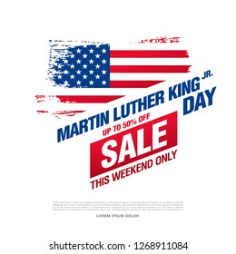 martin luther king day sale banner layout design