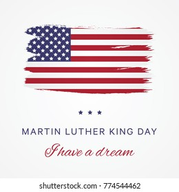martin luther king day vector design layout for banner, poster, flyer, presentation