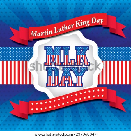 Martin Luther King Day Vector Illustration Stock Vector Royalty