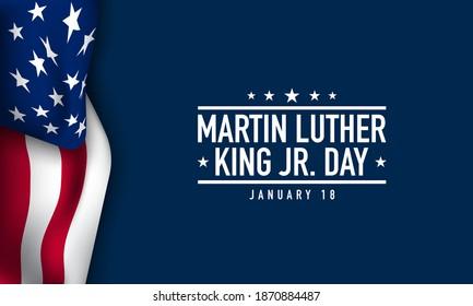 Martin Luther King Jr. Day Background Design. Vector Illustration.