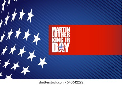 Martin Luther King JR day sign us stars design background