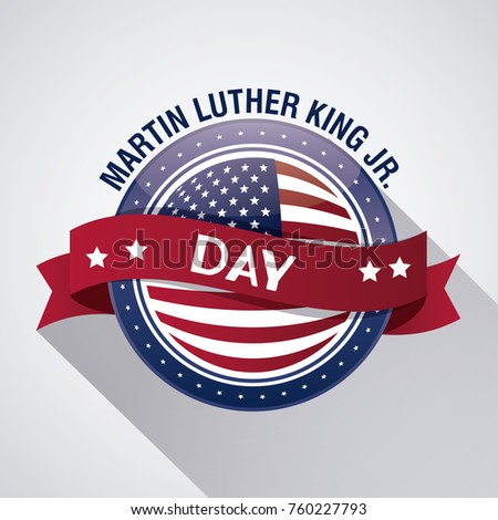 Martin Luther King Jr Day Stock Vector Royalty Free 760227793