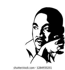 Martin Luther King Jr. Vector Illustration. 2019.