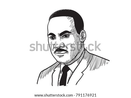 Martin Luther King Jr Vector Illustration Stock Vector Royalty Free