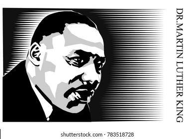 Martin Luther King poster vector art