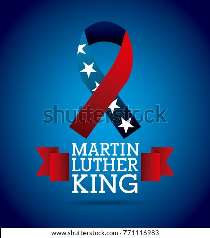 Martin Luther King Ribbon Color Flag Stock Vector Royalty Free