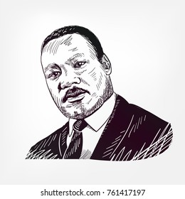 martin luther king vector sketch illustration