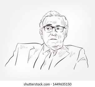 Martin Scorsese vector sketch portrait face famous