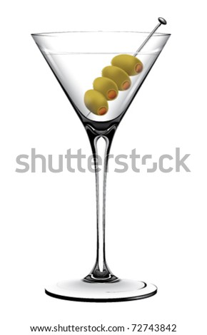 Martini Glass Olives Stock Vector Royalty Free 72743842 Shutterstock