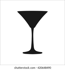 Martini Glass sign  simple icon on background