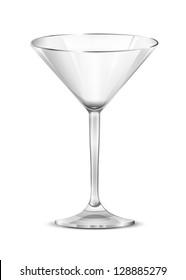 Martini glass. Glass. Vector.