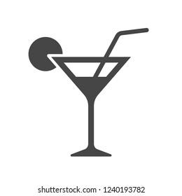Martini icon. Cocktail drink vector illustration