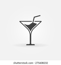 Martini icon or logo - vector alcohol symbol