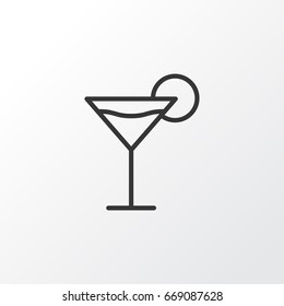 Martini Icon Symbol. Premium Quality Isolated Cocktail Element In Trendy Style.