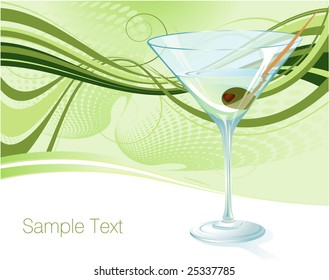 Martini. Vector background.