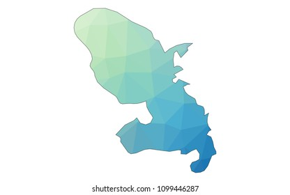 Martinique map - Colorful Polygonal map of Martinique rumpled triangular low poly style gradient graphic background , Vector illustration eps 10.