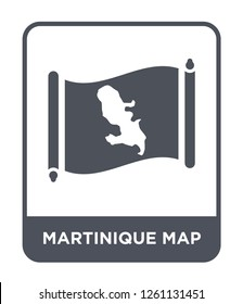 martinique map icon vector on white background, martinique map trendy filled icons from Countrymaps collection, martinique map simple element illustration