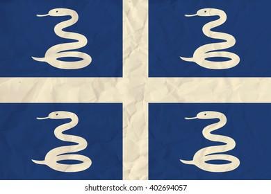 Martinique  paper flag