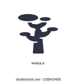 marula icon. Simple element illustration from africa concept. marula editable symbol design on white background. Can be use for web and mobile.