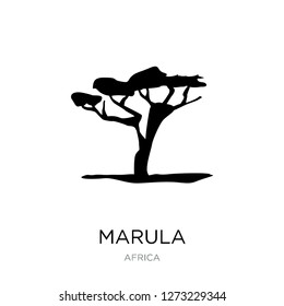 marula icon vector on white background, marula trendy filled icons from Africa collection, marula simple element illustration