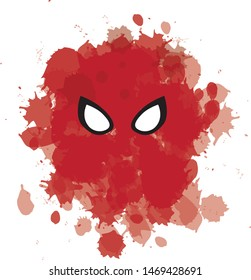 Marvel Spider-Man far from home homecoming avengers Vector red splash black and white
