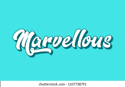 marvellous hand written word text for typography design. Can be used for a logo, branding or card