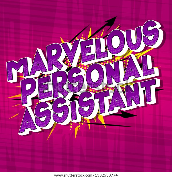 Marvelous Personal Assistant Vector Illustrated Comic Stock