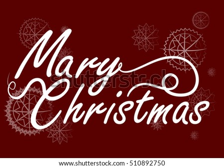 mary christmas card vector handwritten text stock vector royalty